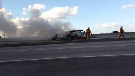 C6 Corvette catches fire after rear end crash Tuesday 10.20.2015