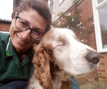Carla Finzel with patient Russ. IMAGE: Carla Finzel RVN.