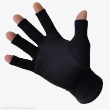 Far Infrared Arthritis & Raynaud's Gloves, Black, Fingertip