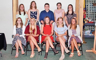 The Top 10 seniors at Rising Sun High School were honored with a banquet at the Ohio County Historical Museum on Monday