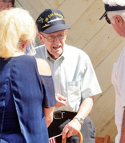 Charlie Davis was one of two WWII veterans on hand for the 2017 Memorial Day Service.