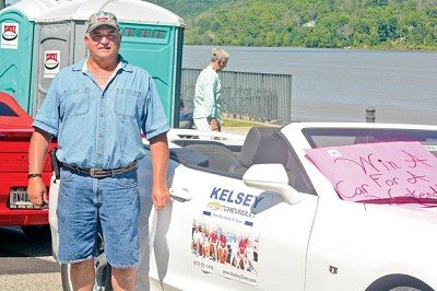 Mike Poling of Rising Sun won the band boosters' raffle for a weekend use of a 2017 Chevy Camaro from Kelsey Chevyrolet in Lawrenceburg.<br /><br /><!-- 1upcrlf2 -->