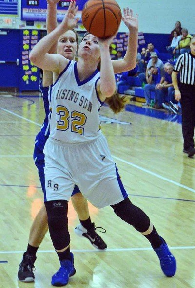 Emma Levi hit a pair of baskets to help in Rising Sun's comeback win over Waldron.