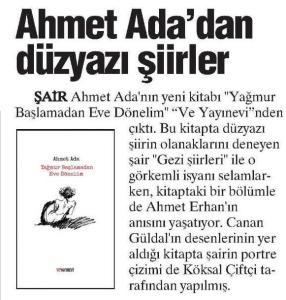 Ahmet Ada, düzyazı şiirler