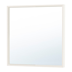 La foto mostra uno specchio per toletta