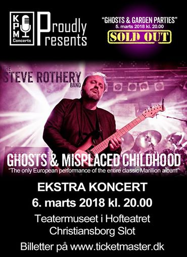Steve Rothery Band (UK) 2018 March 6th 2018 (Tickets available)! >