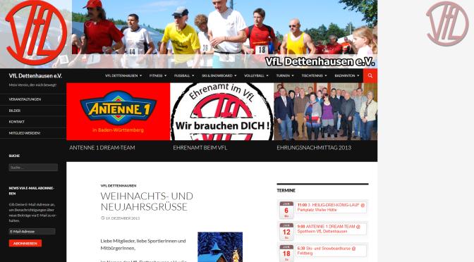 Neuer Webauftritt des VfL Dettenhausen