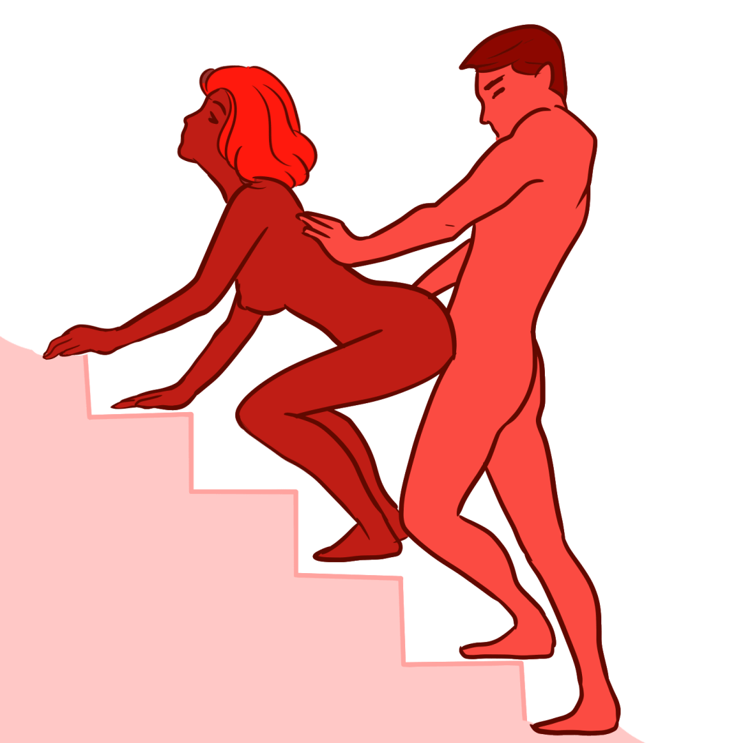 Stairs to heaven sex position