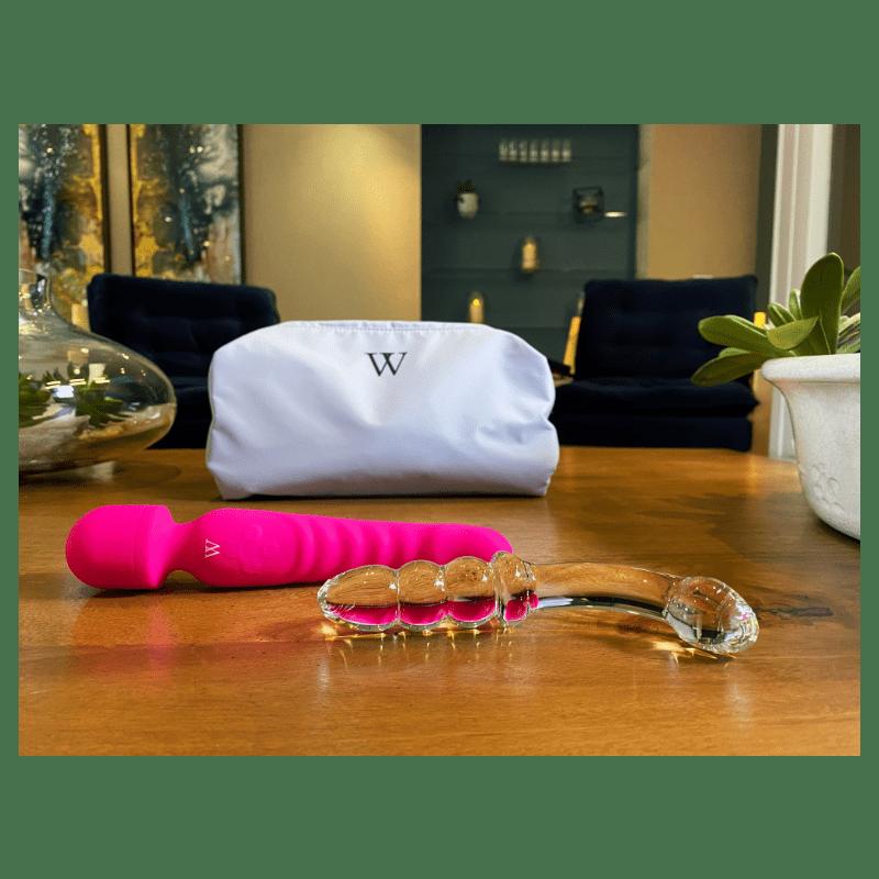 sex toy kit Venus wand vibrator Ceres glass dildo
