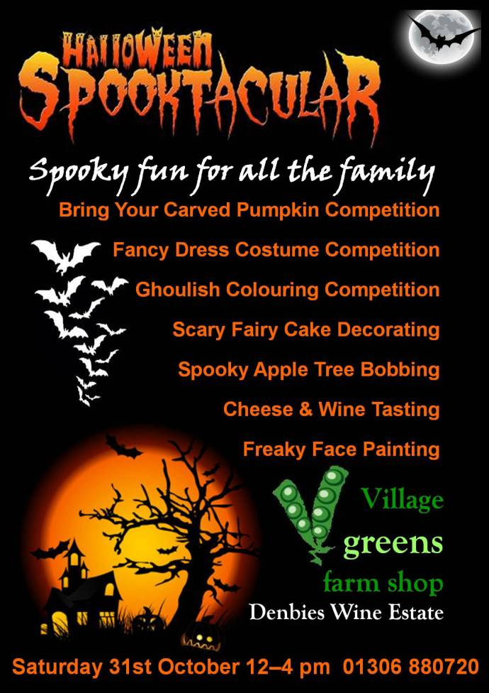 Halloween fun and games this Saturday at the Denbies shop!