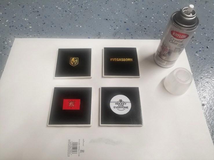 DIY Vegas Golden Knights Coasters