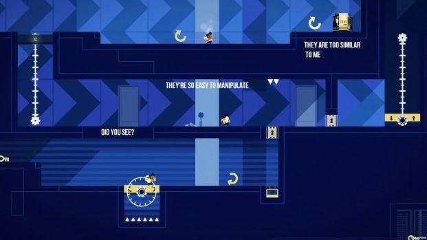 Il comparto narrativo è caratterizzato da un sistema di testi su schermo che mostra le sensazioni di Klaus, i suoi timori e i pensieri su ogni azione compiuta.