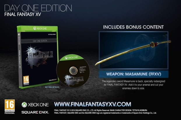 Final Fantasy XV: Day One Edition (Xbox One)