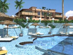 A CAD design of a Spa cum Pool by Vgosh Interiors