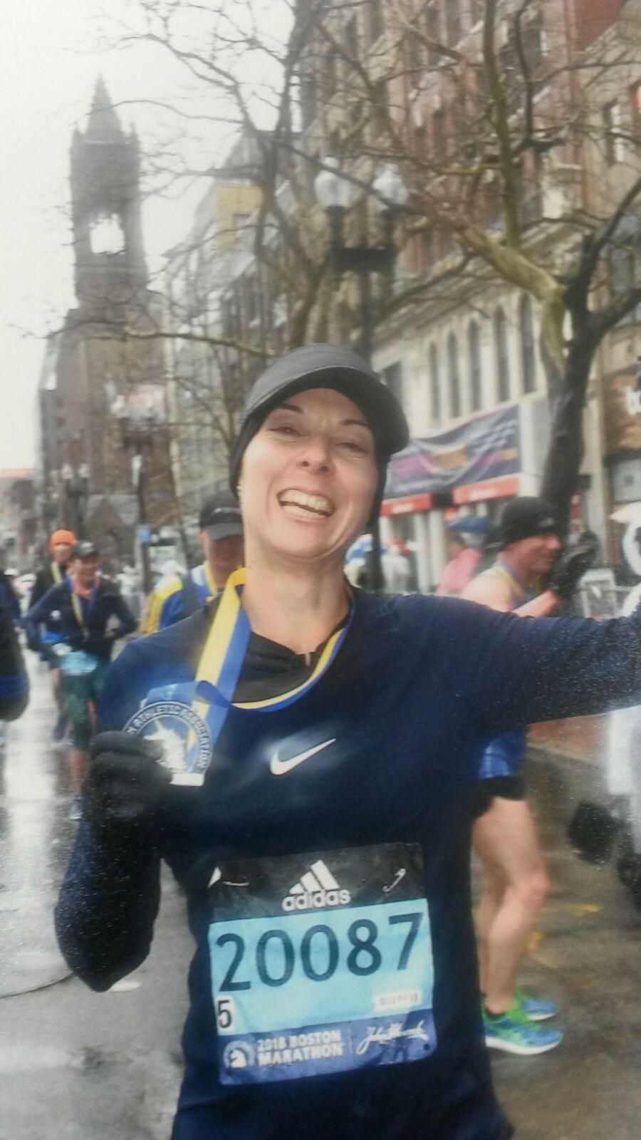 Maratón Boston - Meta