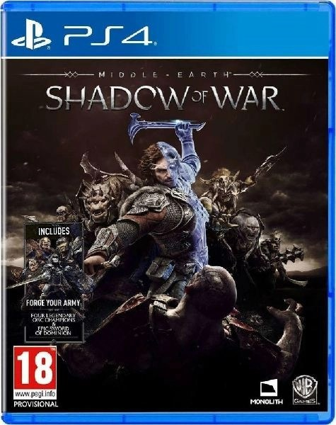Middle Earth Shadow of War PS4 cover