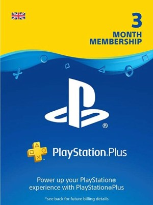 Playstation Plus 3 Months Cover
