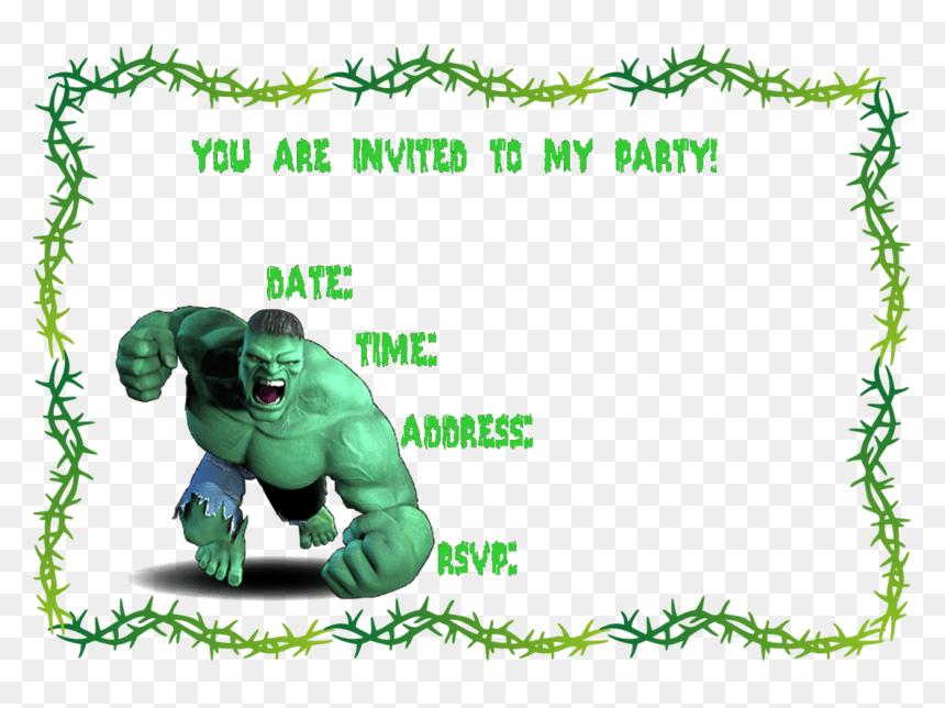 free printable hulk invitation template