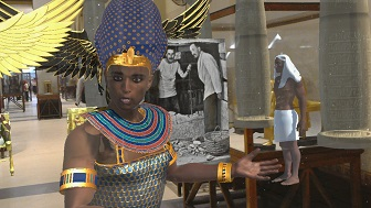 Bringing museum to life with the help of virtual Tutankhamen tour guide