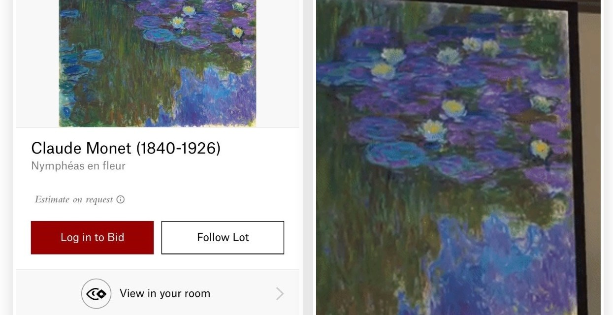 From their Walls to Ours in Augmented Reality: Christie's app