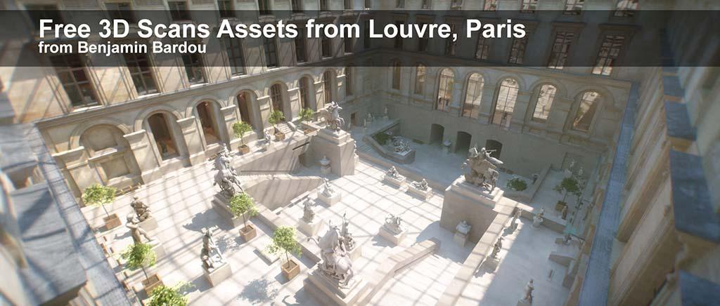 25 FREE 3D scans from Louvre Museum, Paris