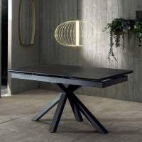 Design ausziehbarer Esstisch aus Keramik und Metall