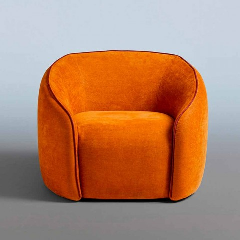 relax armchair modernes design made in italy aus farbigem stoff baloo
