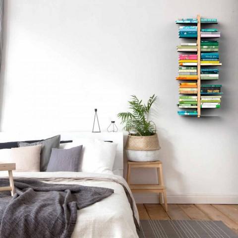 Zia bice è una libreria sospesa a parete, che abbina design a funzionalità. Suspended Wall Mounted Modern Bookcase Made In Italy Zia Bice