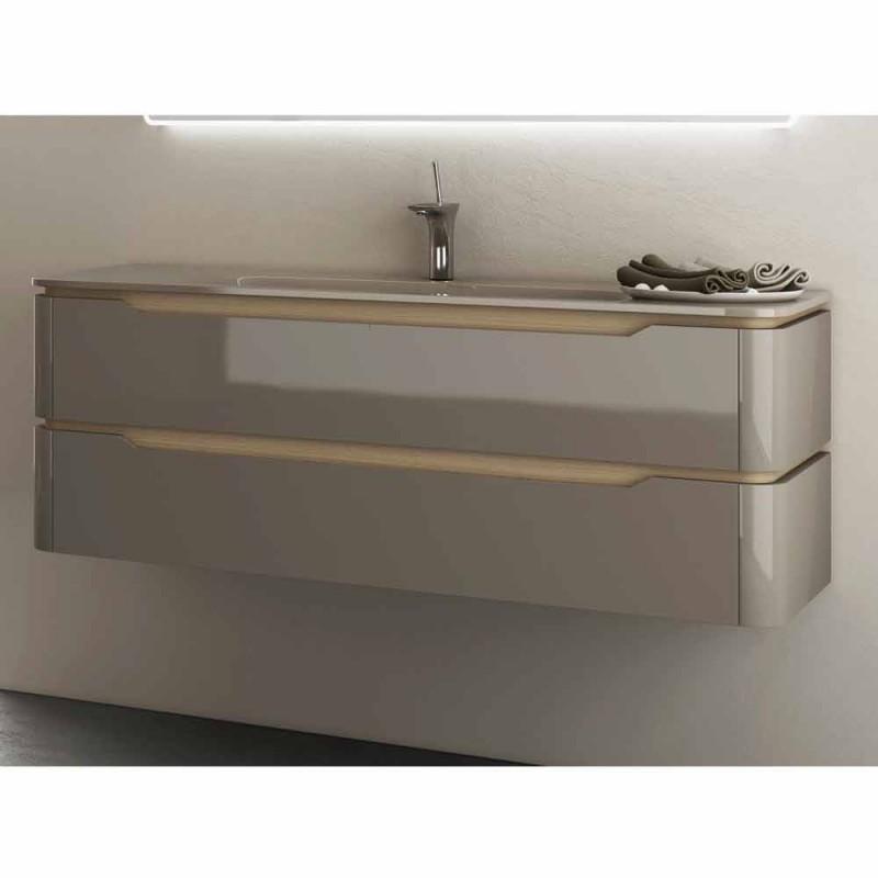 arya modern design bathroom vanity with built in basin made in italy