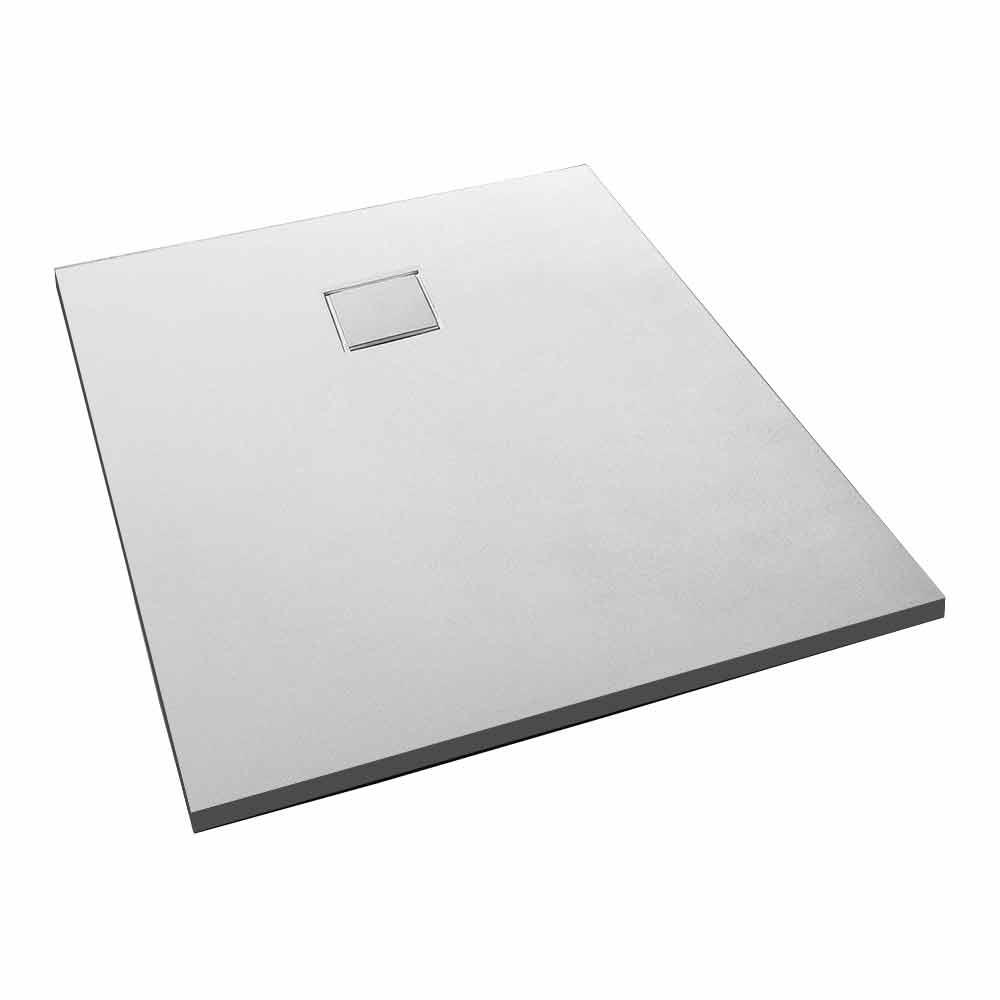 receveur de douche rectangulaire moderne 120x90 en resine blanche