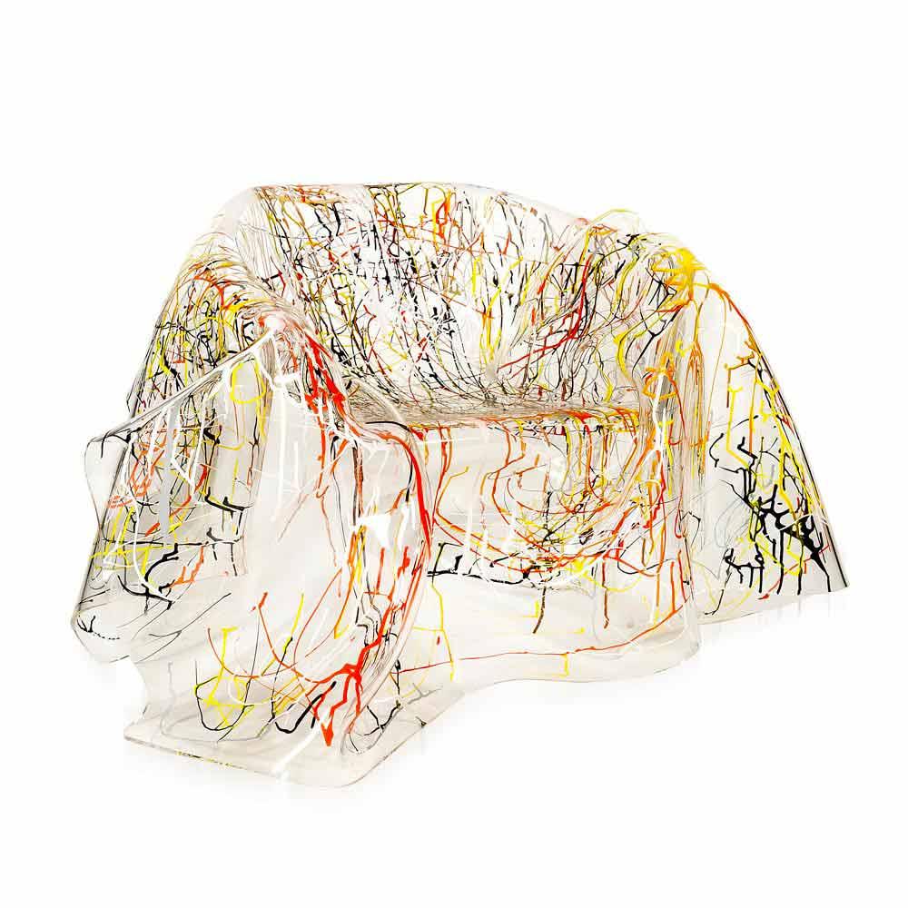Fauteuil De Design En Plexiglas Multicolore Paris Fait En