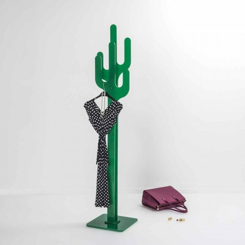portemanteau de design moderne vert cactus fait en italie