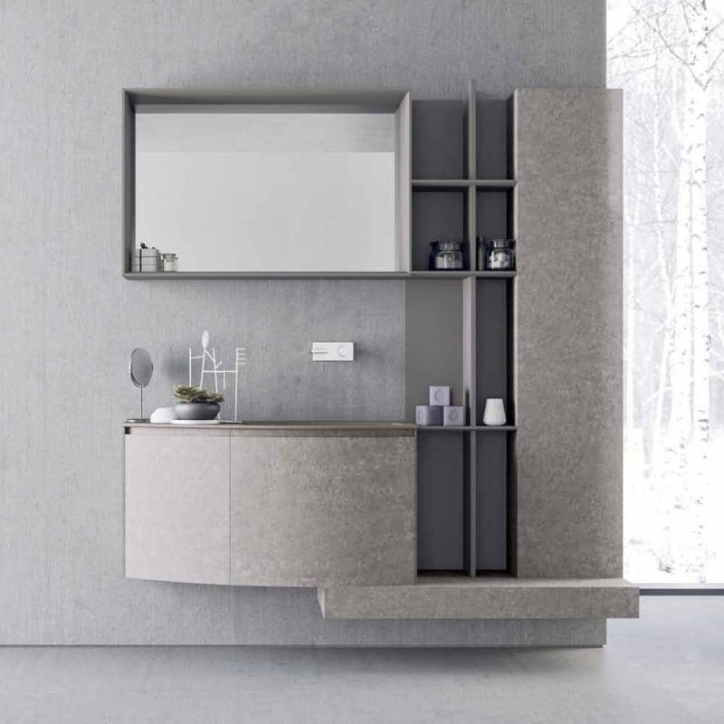composition de salle de bain suspension de design italien moderne callisi10