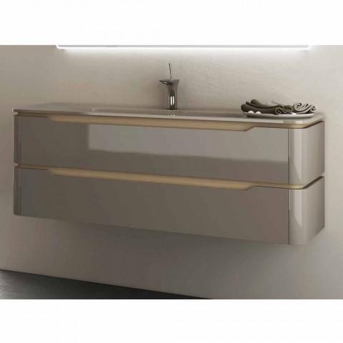 Meuble Pour Salle De Bain Avec Vasque En Bois Design Arya Fabriquee En Italie