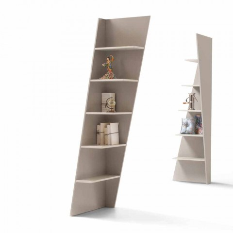 bibliotheque angulaire design mdf laque my home esquina made in italy