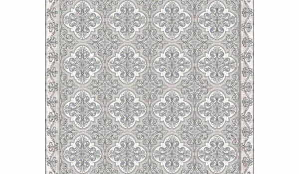 chemin de table design en pvc et polyester avec motif