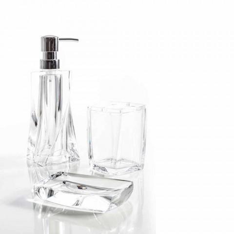 set moderne pour distributeur de salle de bain verre porte savon torraca