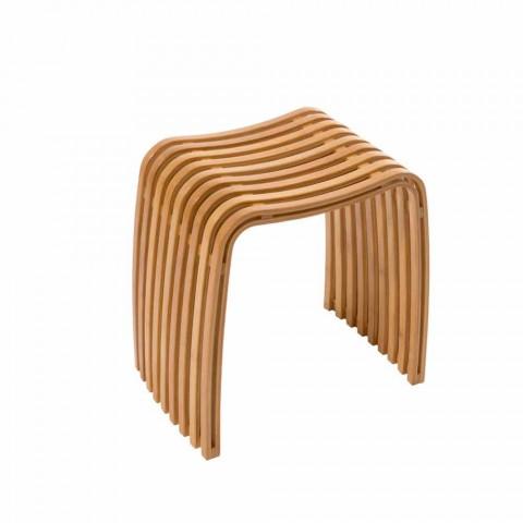 pied de salle de bain design en bambou courbe chaud gorizia