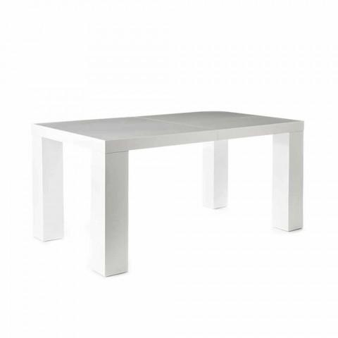 Table De Salle A Manger Extensible Blanc Mat Demy De Design Moderne