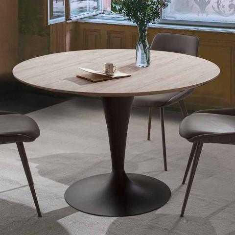 table de salle a manger avec plateau rond extensible jusqu a 170 cm moreno
