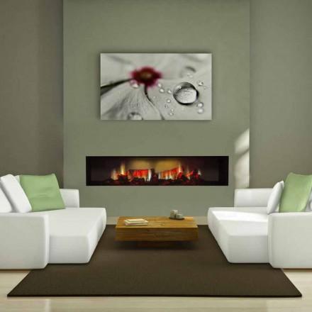 Caminetto elettrico a parete con vetro panoramico. Camini Elettrici Di Design Moderno Da Parete Terra O Angolo Viadurini