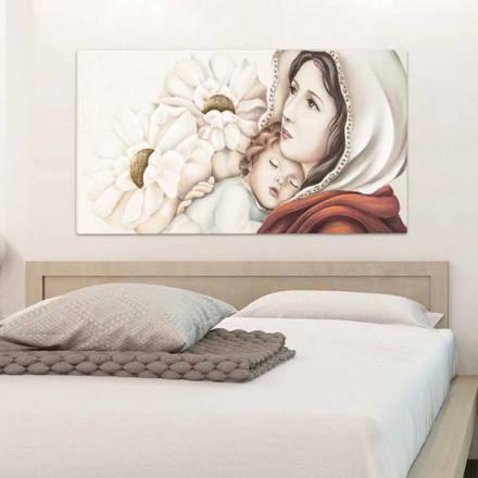 Quadro sacra famiglia stilizzata polvere di marmo e legno. Quadri Religiosi E Capezzali Con Motivi Sacri Made In Italy Viadurini