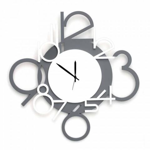 Orologi d'arredo disegnati in stile moderno, vintage, di design, oppure stravaganti e particolari a seconda delle esigenze. Orologio Grande Da Parete In Legno Moderno Design Grigio