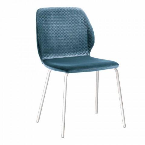 Nel catalogo disponibile online troverai un vasto assortimento di sedie e tavoli che riusciranno a donare al tuo. 4 Sedie Moderne Per Salotto Di Design Elegante In Velluto
