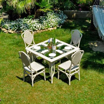 Il design del tavolo da giardino 3millimetri, disegnato dallo studiocharlie per depadova,. Tavolo Da Giardino Di Design Piano In Vetro Romeo Realizzato A Mano