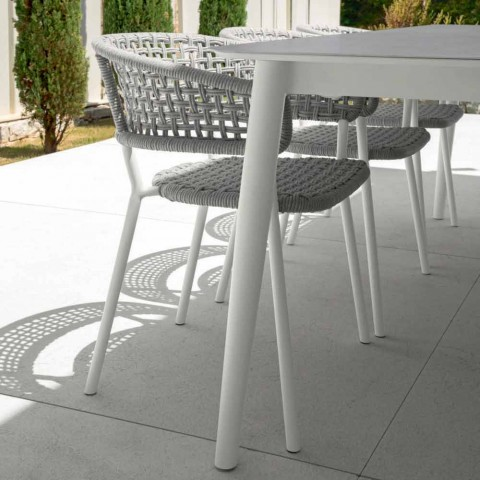 Moon Alu Outdoor Seat By Talenti With Cord And Aluminum