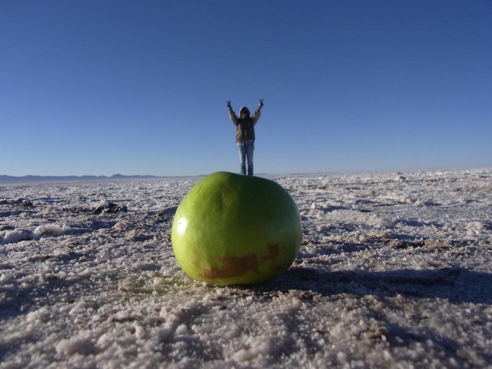 ボリビア ウユニ塩湖 トリック写真