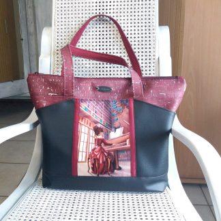 Grand sac cabas Biguine La pianiste écarlate
