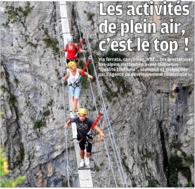 en premiere page de La Provence