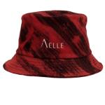 Cappello 1990 Bucket in Denim Indaco Effetto Flame